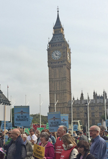 Photo of demonstration held in Parliament Square on 10 October 2015
